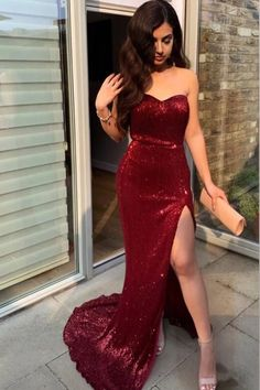 Sexy Strapless Split Mermaid Prom Dresses, Charming Sweetheart Shiny Evening Dress, SRS, This dress could be custom made, there are no extra cost to do custom size and color. Mermaid Prom Dresses, Cheap Prom Dresses, Party Dresses, Sexy Dresses, Summer Dresses, Wedding Dresses, Mermaid Gown, Fall Dresses, Casual Dresses