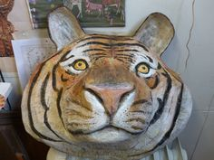 Big paper mache tiger