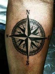 Nautical Compass Tattoo #tattoo #tattoos #bodyart