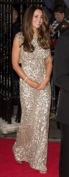 Kate looking stunning in this Jenny Packham sparkling evening dress