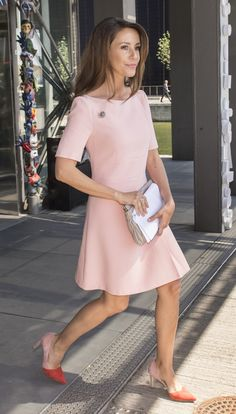 Princess Marie in her pink dress.