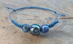 Bracelet Hematite and Brazilian Sodalite handmade by TriouZ, £6.15