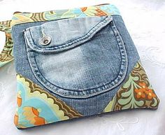 Recycled Denim Pocket Pouch by Rock Fringe, via Flickr
