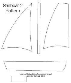 Large Sailboat Pattern - Free Scrapbook Paper Piecing Pattern