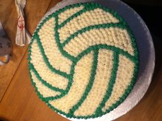 Volleyball Cake try it using cupcakes