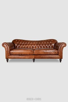 Watson Tufted Sofa In Mont Blanc Caramel Leather Brown Leather Sofa Bed,  Tufted Leather Sofa
