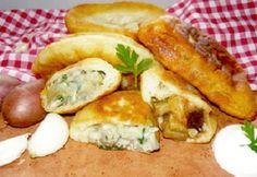 Gombával töltött lángos Hungarian Recipes, Pizza, Chicken, Meat, Food, Essen, Meals, Yemek, Eten