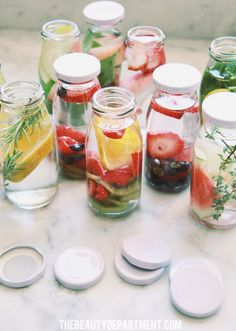 Fruit infused water.