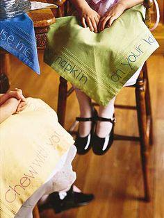 Diy- manners napkins :)