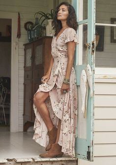 Jolie robe d'été longue robe été pas cher
