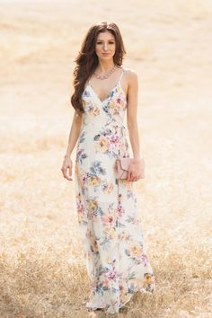 This unique floral wrap maxi dress is so feminine and flattering! With an adjustable self-tie waist and the prettiest floral print, we can't get enough of this gorgeous piece - that's perfect to wear Unique Dresses, Cute Dresses, Beautiful Dresses, Casual Dresses, Dresses For Work, Formal Dresses, Long Dresses, Maxi Wrap Dress, Floral Maxi Dress