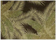 AreaRug Carnival Palms - 3V775 - Dark Brown - Flooring by Shaw