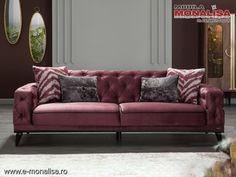 Canapea extensibila chesterfield modern Armada 3 locuri visiniu Sofa, Couch, Chesterfield, Living Room, Modern, Furniture, Home Decor, Settee, Settee