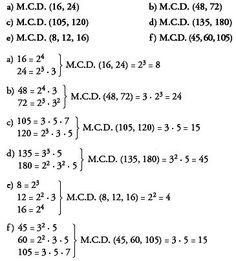 divisibilidad de números naturales producto de maximo comun divisor y mínimo común múltiplo - Buscar con Google