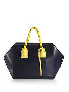 Stella McCartney - Rope-Handle Faux-Leather Boston Bag
