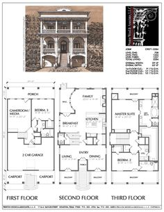 2 Story House Plan, New Residential Floor Plans, Single Family Homes, – Preston Wood & Associates Family House Plans, Dream House Plans, House Floor Plans, Family Homes, Building Plans, Building Design, Porch And Balcony, House Blueprints, Sims House