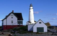 Boston Harbor, MA was America's first....built on Little Brewster Island in 1716....damaged in the Rev. War and rebuilt in 1783, 1859.  The light is visible for 27 miles.