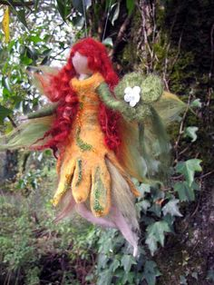 DEIRDR  irish nature fairy  Needle and Wet Felted by LivelySheep, €24.00