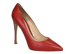 Gianvito Rossi stiletto high heels pumps in red leather made in Italy