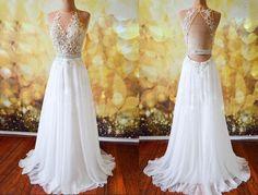 Long Dresses,prom dresses,white a-line lace long prom dresses, evening dresses