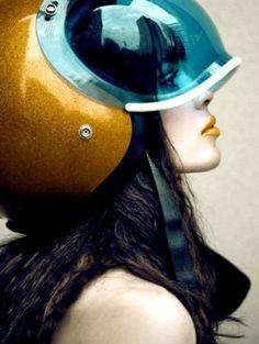 Futuristic vintage helm