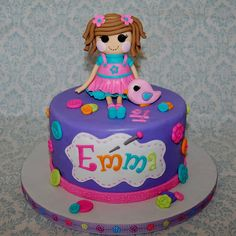 CakeFilley: Lalaloopsy Cake (just pinning the name idea, not necessary the lalaloopsy part)