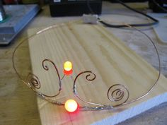 Tutorial for making copper wire tiaras with LEDs.