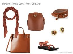 Adding Accessories to a Capsule Wardrobe in 13 color families - brown
