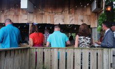The buffet line at the Love Shack at Moonlight Fields