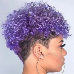 A vivid and elegant purple suitable for any moment of the day. All natural Environmentally friendly Great for all hair styles Easy to wash out Non-sticky Non-harmful ingredients Great looking results Safe and easy to use Terms & Conditions: Results may vary. No returns or exchanges. Curly Purple Hair, Purple Natural Hair, Purple Hair Black Girl, Natural Hair Short Cuts, Short Natural Haircuts, Curly Hair With Bangs, Natural Hair Styles For Black Women, Hairstyles With Bangs, Curly Hair Styles