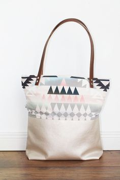 Canvas Tasche mit Mustern / patterned canvas bag made by duftesachen-berlin via DaWanda.com