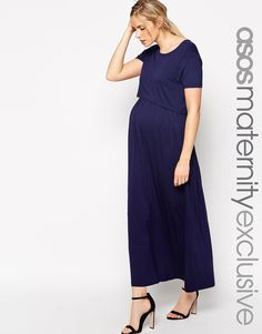 d371d817bd Image 1 of ASOS Maternity NURSING Maxi Dress With Double Layer