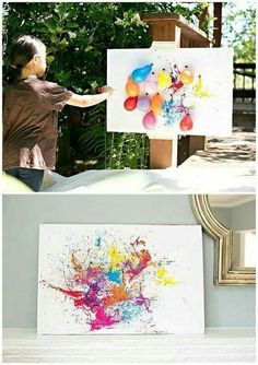 BALLOON DART PAINTING - This would be so much fun!! http://www.hellowonderful.co/post/BALLOON-DART-PAINTING-WITH-KIDS