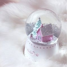 ✨Breakfast At Chanel✨ Shabby Chic Christmas, Christmas Love, Christmas Candy, Xmas, Girly Girl, Musical Snow Globes, Winter Fairy, Winter Wonderland Christmas, Pink Sugar