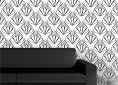 """Classical-bloom Wallpaper by ATADesigns from """"Art Deco with a Modern Twist"""" wallpaper collection. http://www.atadesigns.com/product/classical-bloom-wallpaper/"""