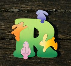 Alphabet letter R jigsaw puzzle room decoration. by tigers4tea, £8.00