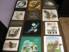 Eagle Quilt made from T-shirts.