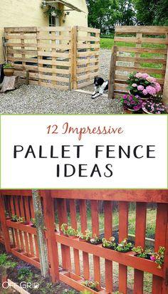 pallet garden 12 Impressive Pallet Fence Ideas Anyone Can Build - Off Grid World Diy Backyard Fence, Diy Garden Fence, Pallets Garden, Cheap Garden Fencing, Garden Ideas Using Pallets, Pallet Gardening, Garden Bar, Garden Trellis, Beer Garden