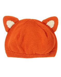 The cutest #Fox Sweater Beanie!  #pinparty #colorfulfall @The Little Style File