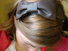 DIY Quick No-Sew Leather Bow Wide Headband