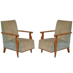 Pair of Maurice Jallot Arm Chairs
