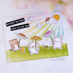 Hello friends! I just got my Exclusive Simon Says Stamp - Mama Elephant Stamptember® Rain or Shine . Ohmy, this set is absolutely so cute! ...