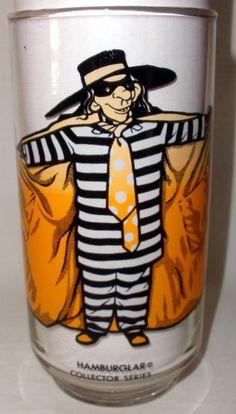 "Vintage McDonald's ""Hamburglar"" Collector Series Glass #McDonalds"