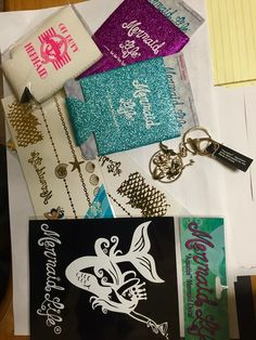 Mermaid Life decals Siren Skin flash Tattoos and Aquatini keychains!