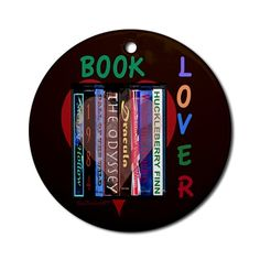 Cheryl Rainfield  Book Lover Christmas Ornaments some based on