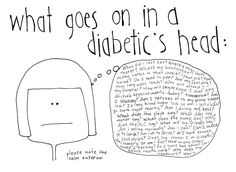 diabetic thought process | type 1 diabetes - humor