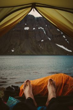 Camping by the water sounds soothing