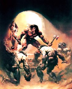The Savage Sword of Conan the Barbarian / Nº7 / The Citadel at the Center of Time / 1975 (Boris Vallejo)
