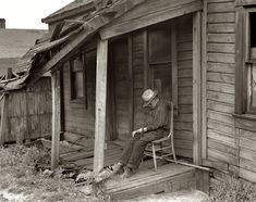 Dilapidated: July 1936. Washington, Pennsylvania. Old age. Medium-format nitrate negative by Dorothea Lange for the Farm Security Administration.