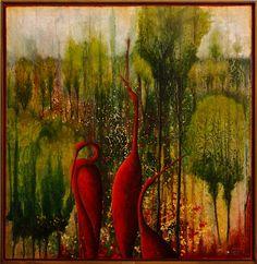 melita_gwerkova_maja_ii Painting, Art, Kunst, Art Background, Painting Art, Paintings, Performing Arts, Painted Canvas, Drawings